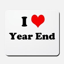 I Love Year End Accounting Financial Mousepad