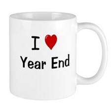 I Love Year End Financial Accounting Small Mug