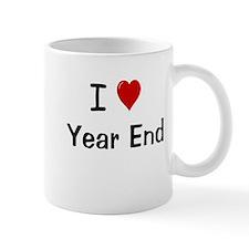 I Love Year End Financial Accounting Small Mug