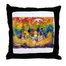 Born In His Heart Throw Pillow