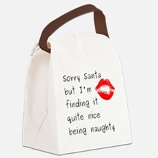 Sorry Santa Canvas Lunch Bag