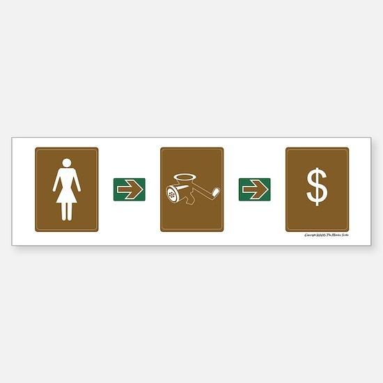 """Firm Economics"" Sticker (Female)"