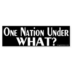 One Nation Under What? Bumper Bumper Sticker