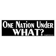 One Nation Under What? Bumper Bumper Sticker