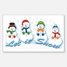 Let it Snow Sticker (Rectangle)