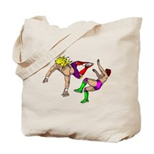 Standing Dropkick Tote Bag