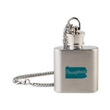 3-pennsylvania.png Flask Necklace