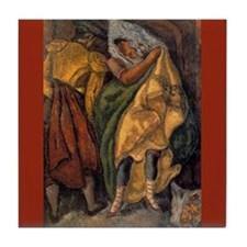 Arturo Souto Bullfighter & Lady Art Tile Coaster