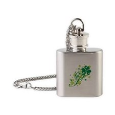 SHAMROCK-SWIRL.png Flask Necklace