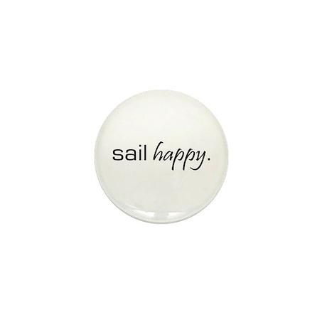 Sail Happy Mini Button