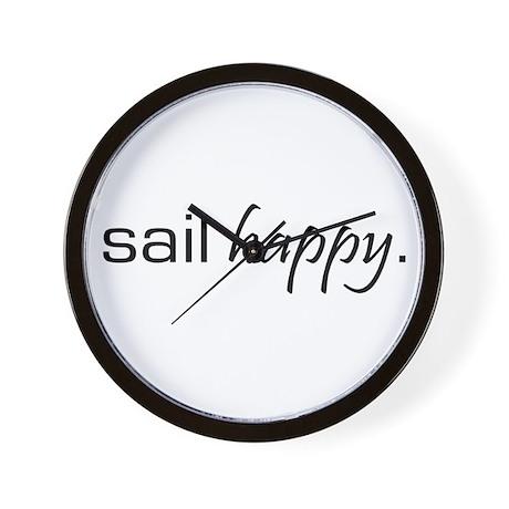 Sail Happy Wall Clock