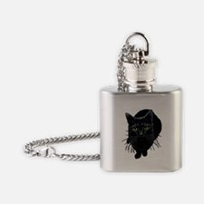 black-kitty.png Flask Necklace