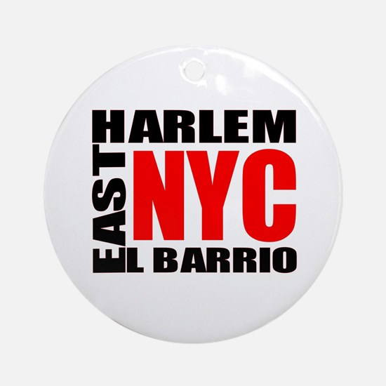 East Harlem NYC Ornament (Round)