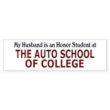 Auto School of College Bumper Bumper Sticker