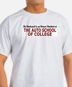 Auto School of College Ash Grey T-Shirt