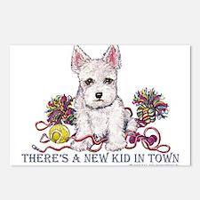 New Kid Westie Puppy Postcards (Package of 8)