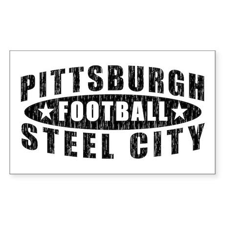 Steel City Football Rectangle Sticker