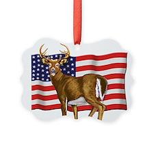 American White Tail Deer Buck Ornament