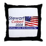 Stewart / Colbert for Preside Throw Pillow