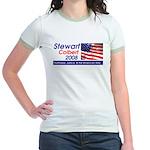 Stewart / Colbert for Preside Jr. Ringer T-Shirt