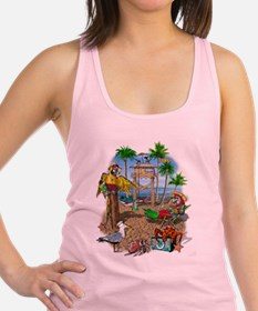 Parrot Beach Shack Racerback Tank Top
