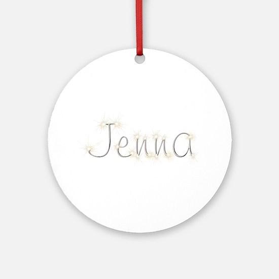 Jenna Spark Round Ornament