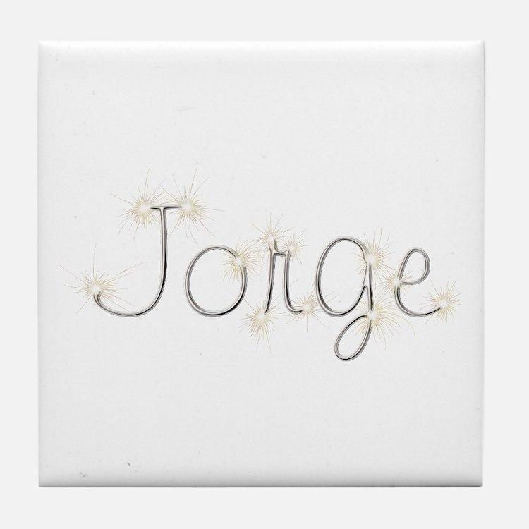 Jorge Spark Tile Coaster