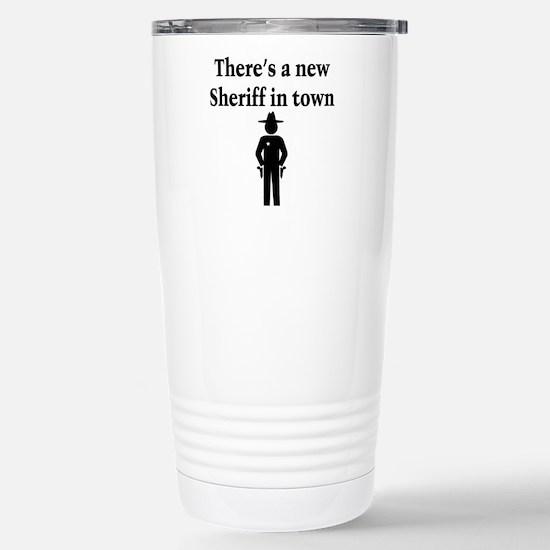 SHERIFF Stainless Steel Travel Mug