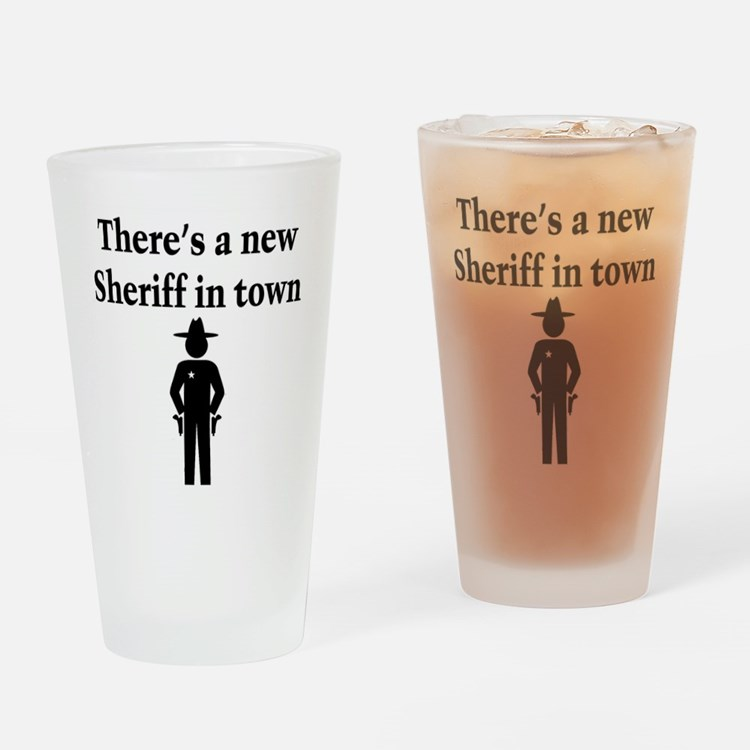 SHERIFF Drinking Glass