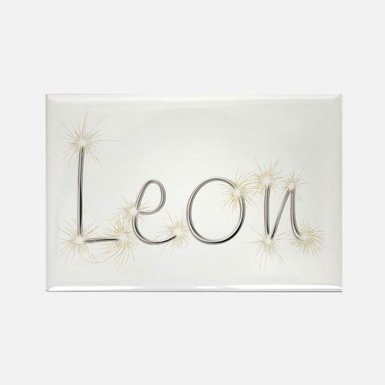 Leon Spark Rectangle Magnet