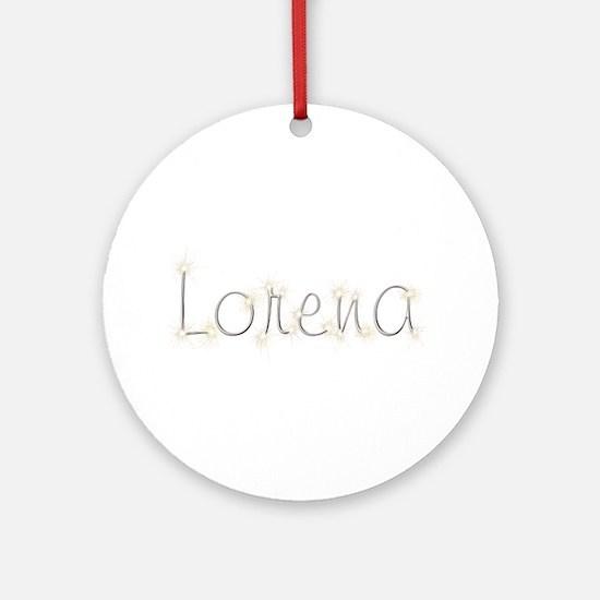 Lorena Spark Round Ornament
