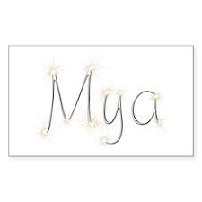 Mya Spark Rectangle Decal