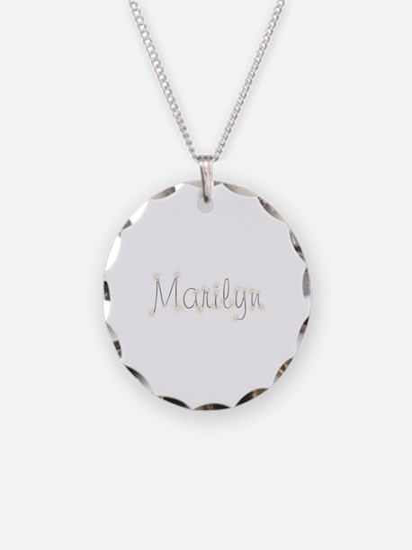 Marilyn Spark Necklace Circle Charm