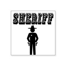 "SHERIFF Square Sticker 3"" x 3"""