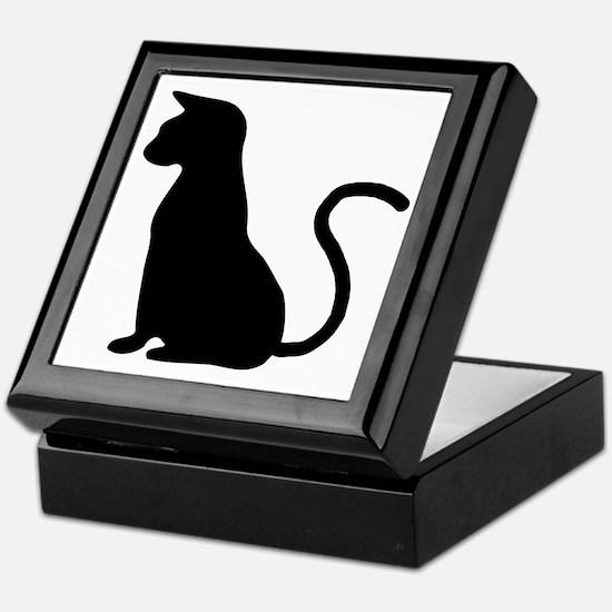 Cat Silhouette Keepsake Box