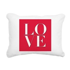 Love (red square) Rectangular Canvas Pillow