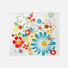floweredvector.png Throw Blanket