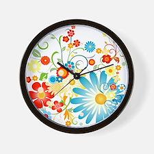 floweredvector.png Wall Clock