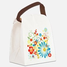 floweredvector.png Canvas Lunch Bag