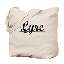 Lyre, Aged, Tote Bag