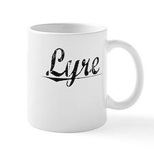 Lyre, Aged, Mug