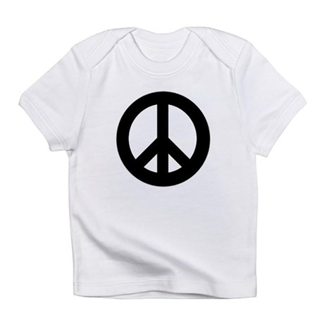 Black Peace Sign Infant T-Shirt
