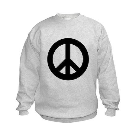 Black Peace Sign Kids Sweatshirt