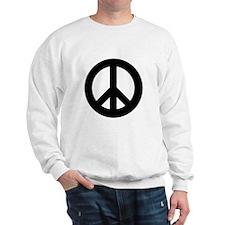 Black Peace Sign Sweatshirt