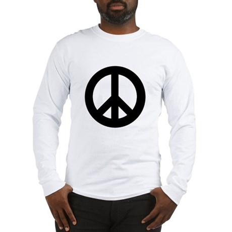 Black Peace Sign Long Sleeve T-Shirt