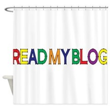 Read My Blog, Color, Vector Shower Curtain