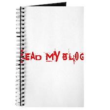 Read My Blog, Splatter, Red Journal