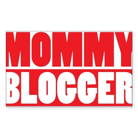 Mommy Blogger , Stacked, Red, Mommy Blog Sticker (