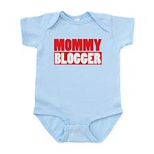 Mommy Blogger , Stacked, Red, Mommy Blog Infant Bo