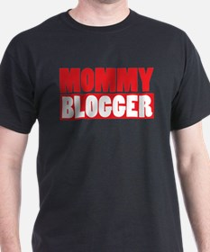 Mommy Blogger , Stacked, Red, Mommy Blog T-Shirt